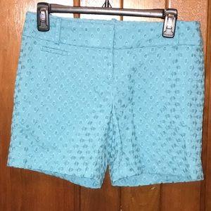 LOFT Eyelet Blue Riviera Shorts Size 0